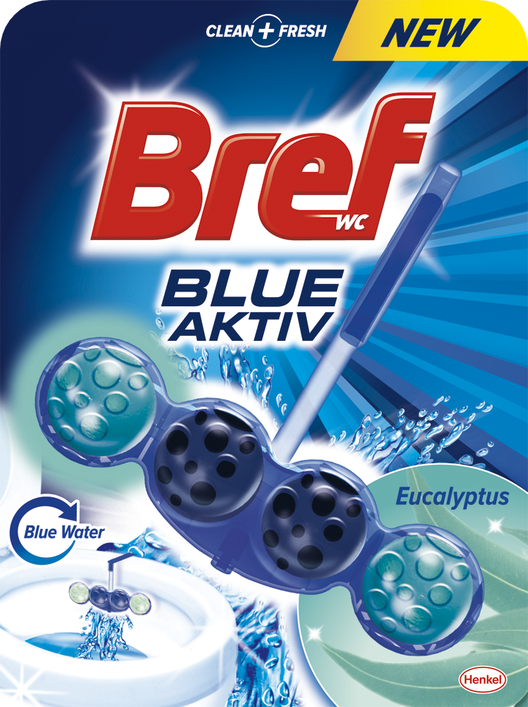Bref Blue Aktiv WC blok, Eucalyptus 50 g