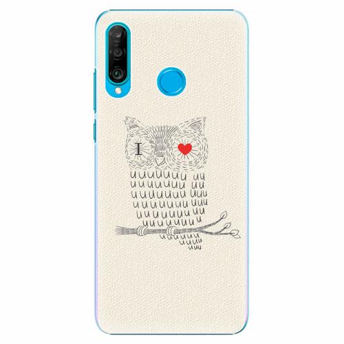 Plastový kryt iSaprio - I Love You 01 - Huawei P30 Lite