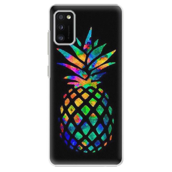 Plastové pouzdro iSaprio - Rainbow Pineapple - Samsung Galaxy A41
