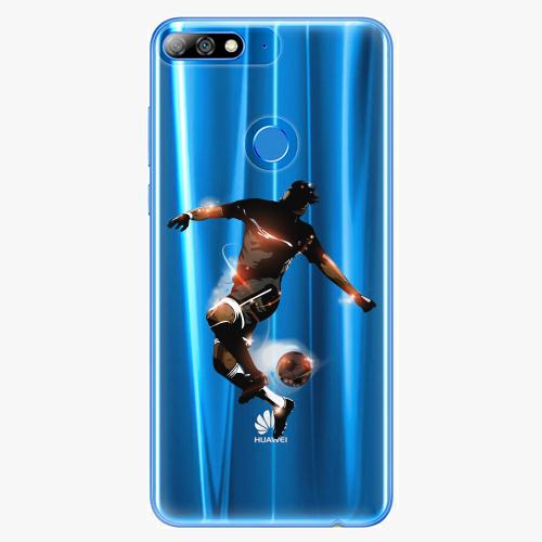 Silikonové pouzdro iSaprio - Fotball 01 - Huawei Y7 Prime 2018