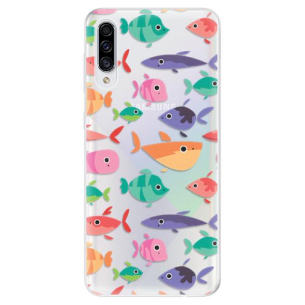 Odolné silikonové pouzdro iSaprio - Fish pattern 01 - Samsung Galaxy A30s