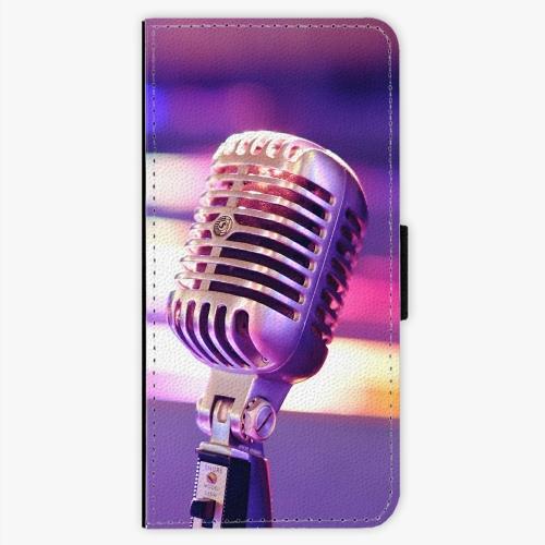 Flipové pouzdro iSaprio - Vintage Microphone - Samsung Galaxy S7 Edge