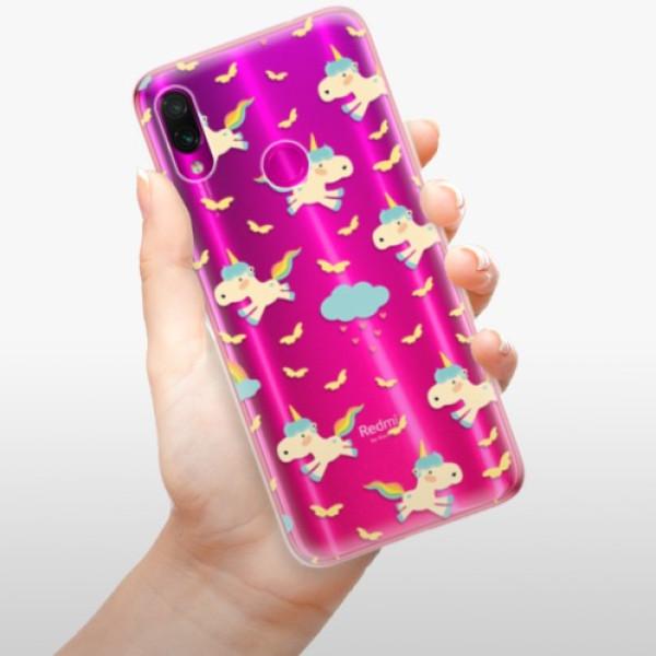Odolné silikonové pouzdro iSaprio - Unicorn pattern 01 - Xiaomi Redmi Note 7