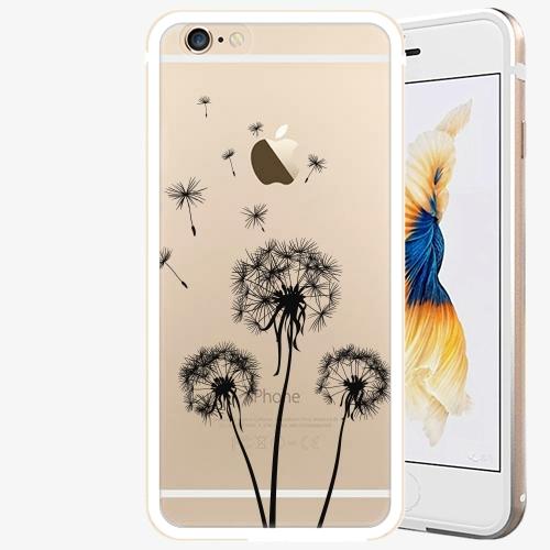 Plastový kryt iSaprio - Three Dandelions - black - iPhone 6 Plus/6S Plus - Gold