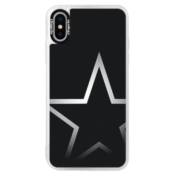Neonové pouzdro Pink iSaprio - Star - iPhone XS