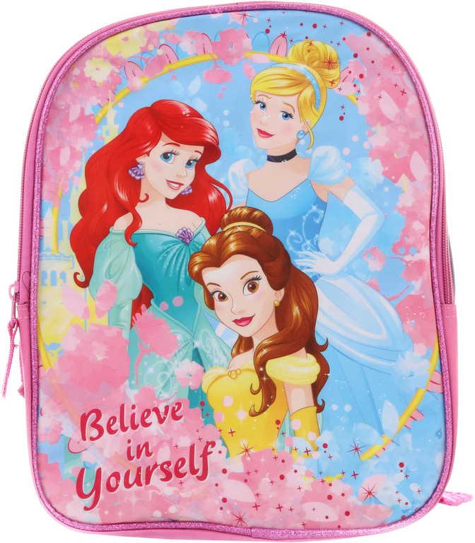 Batoh holčičí Disney Princezny 30x23cm růžový