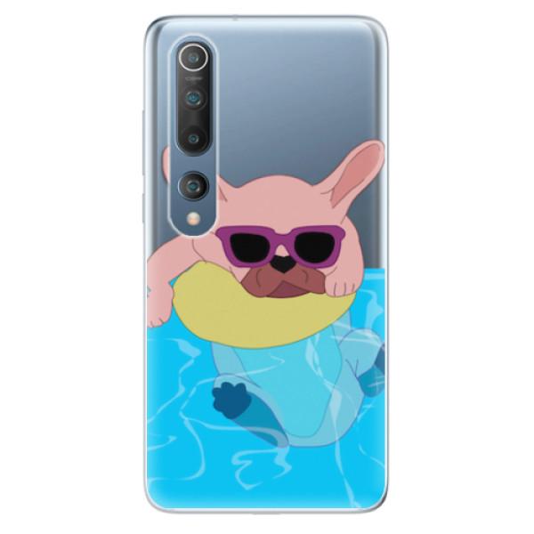 Odolné silikonové pouzdro iSaprio - Swimming Dog - Xiaomi Mi 10 / Mi 10 Pro