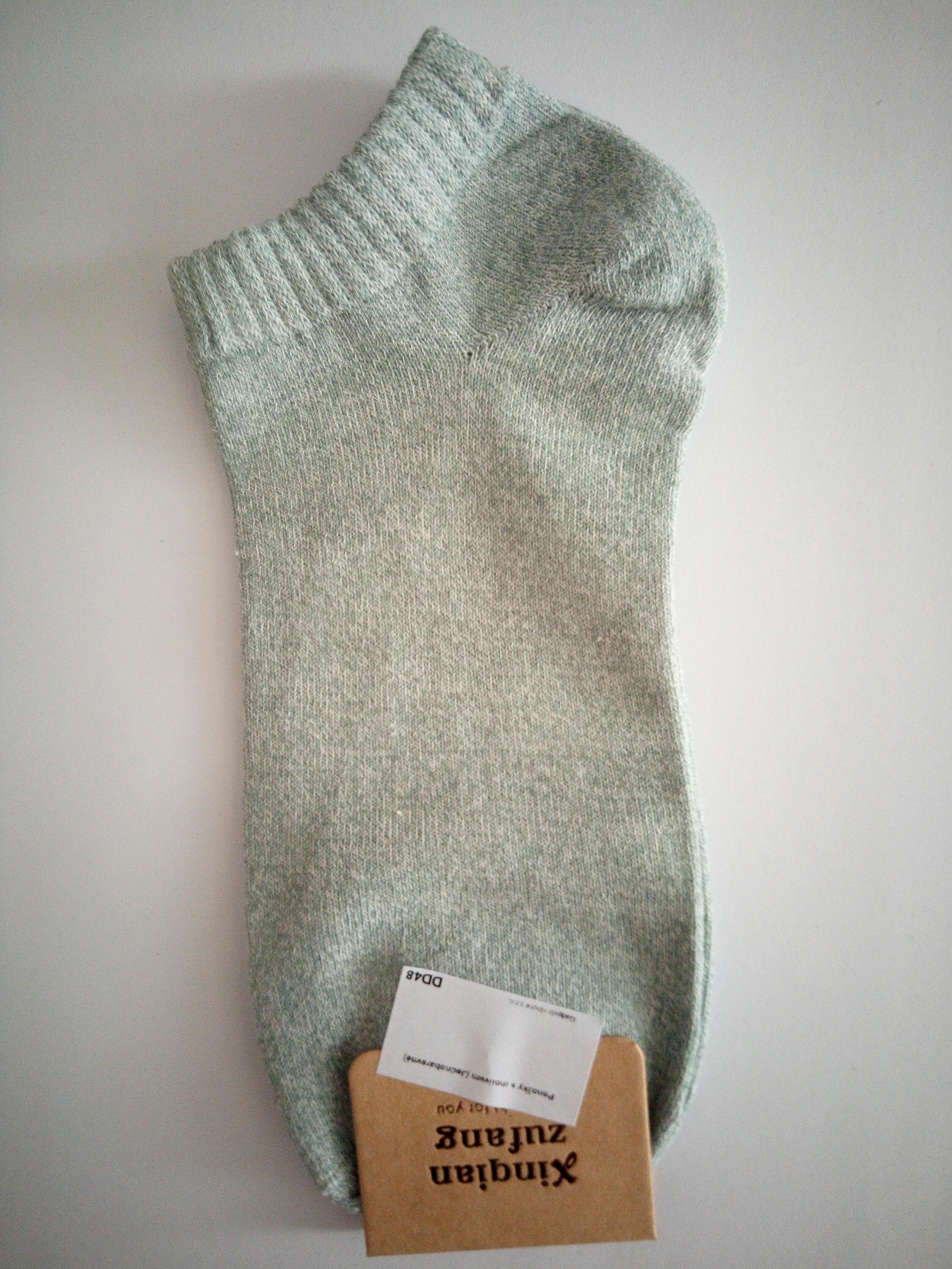 Jednobarevné letní ponožky - Zelenkavá