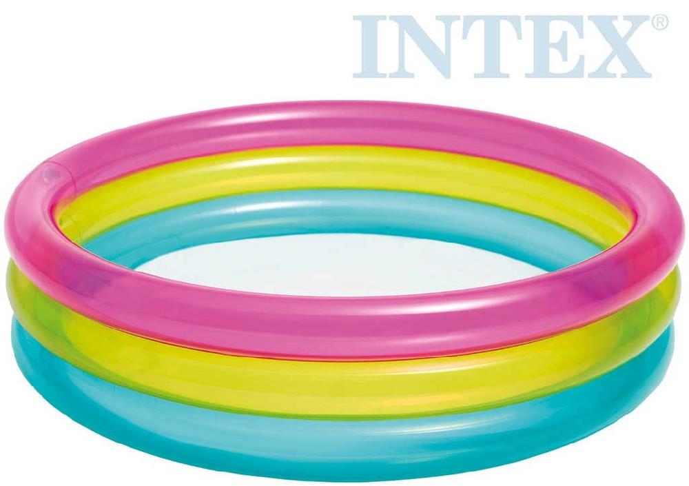 INTEX Bazének dětský kulatý 86x25cm nafukovací brouzdaliště 57104
