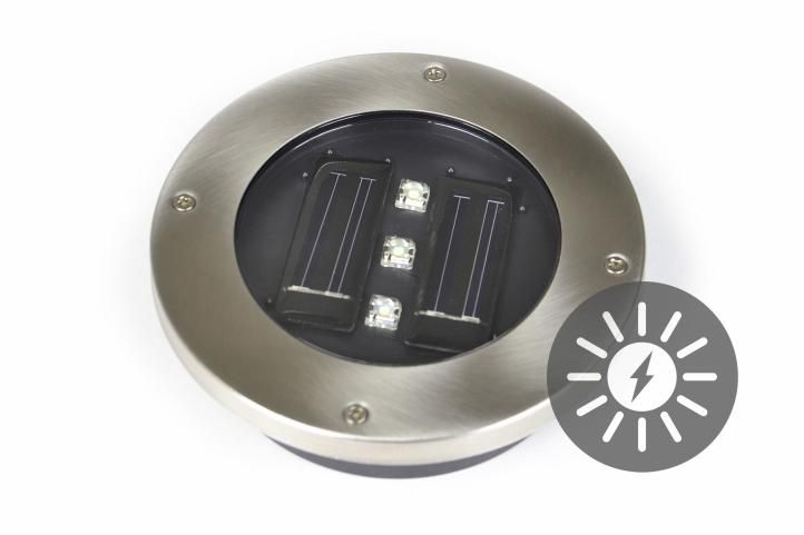 Solární zahradní vestavěné svítidlo Garth se 3 LED diodami