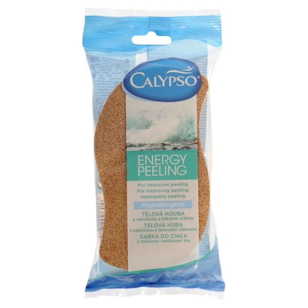 Koupelová houba Energy peeling Calypso - žlutá