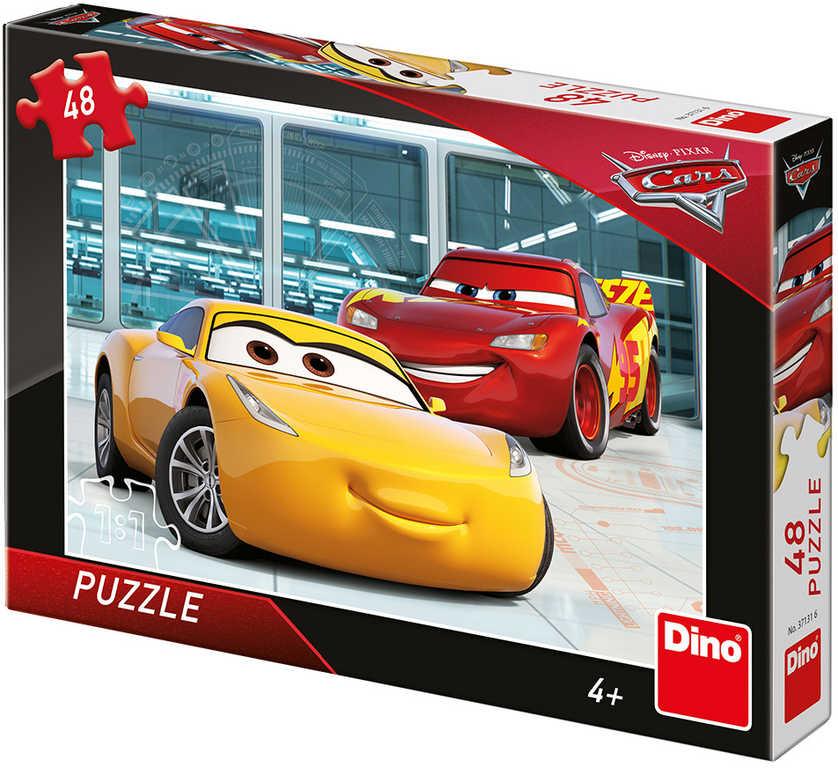 DINO Puzzle 48 dílků Příprava Auta 3 (Cars) skládačka 26x18cm