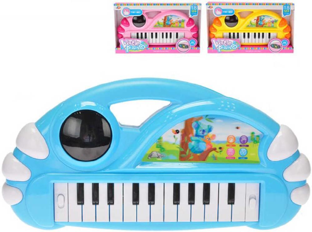 Baby pianko 34x18cm dětský keyboard na baterie Světlo Zvuk 3 barvy