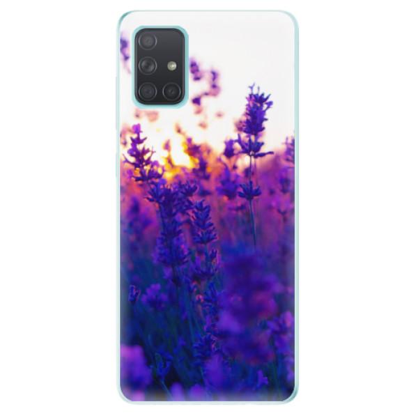 Odolné silikonové pouzdro iSaprio - Lavender Field - Samsung Galaxy A71
