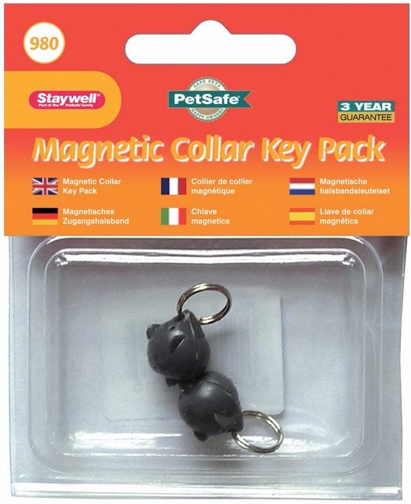 2 magnetische Schlüssel für Hundeklappen Staywell 400 a 900