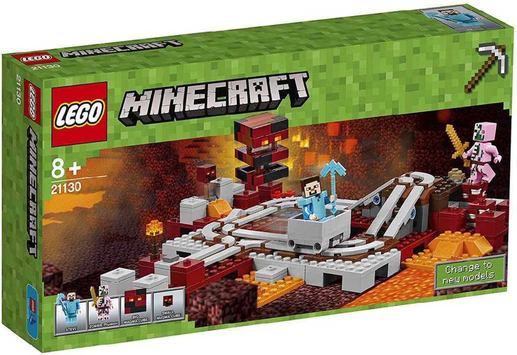 LEGO MINECRAFT Podzemní železnice 21130 STAVEBNICE