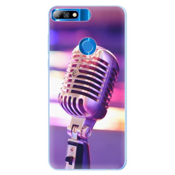 Silikonové pouzdro iSaprio - Vintage Microphone - Huawei Y7 Prime 2018