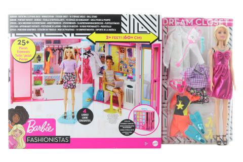 Barbie Šatník snů s panenkou GBK10