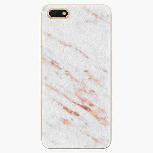 Plastový kryt iSaprio - Rose Gold Marble - Huawei Honor 7S
