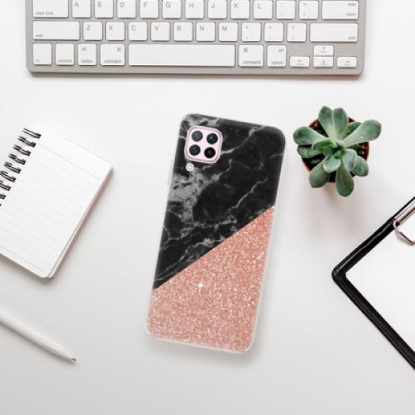 Odolné silikonové pouzdro iSaprio - Rose and Black Marble - Huawei P40 Lite