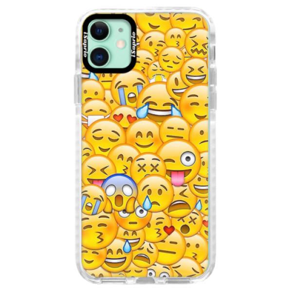 Silikonové pouzdro Bumper iSaprio - Emoji - iPhone 11