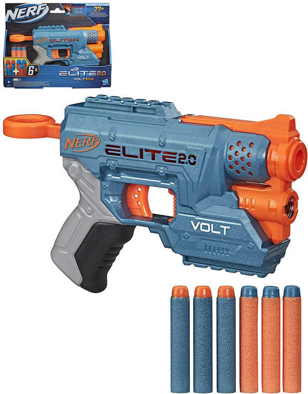 HASBRO NERF Volt SD-1 set blaster + 6 šipek Elite na baterie Světlo plast