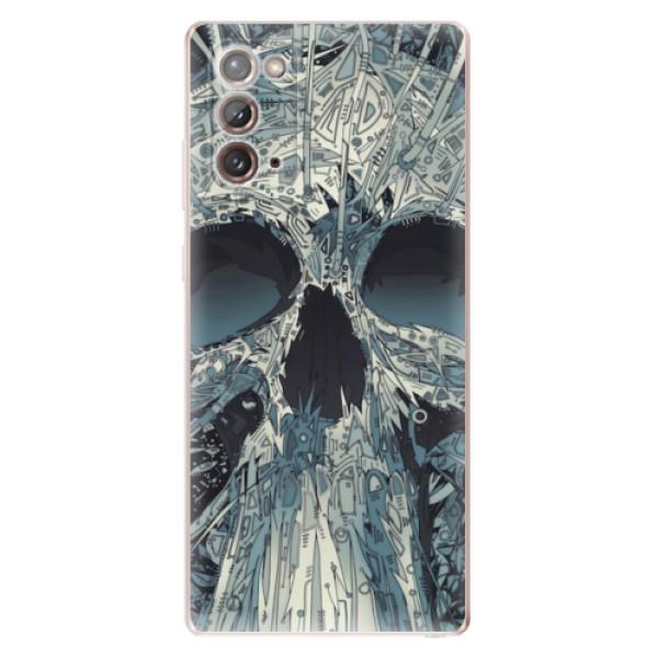 Odolné silikonové pouzdro iSaprio - Abstract Skull - Samsung Galaxy Note 20