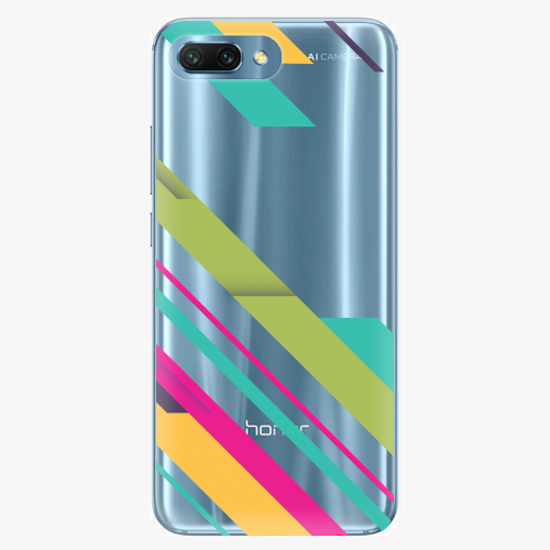 Silikonové pouzdro iSaprio - Color Stripes 03 - Huawei Honor 10