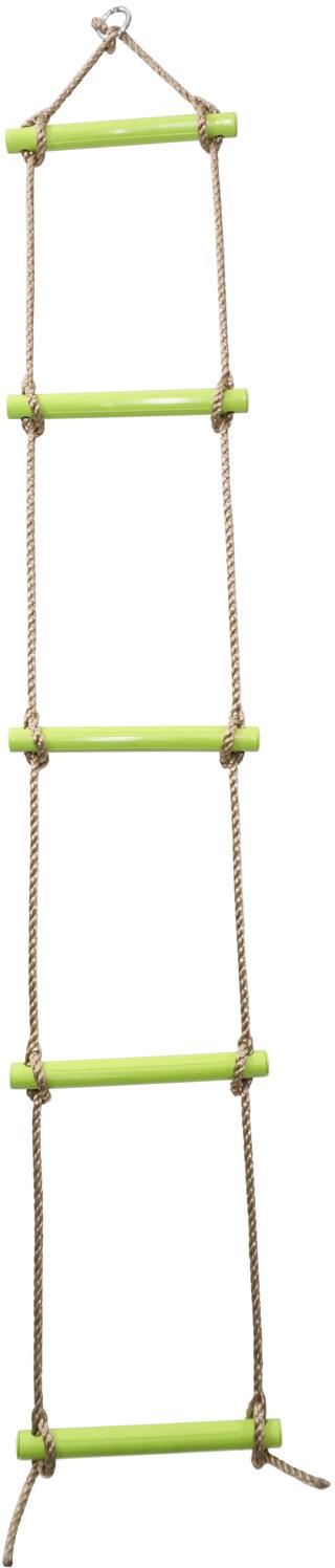 Žebřík dětský provazový závěsný 1,8m max.80kg zelený