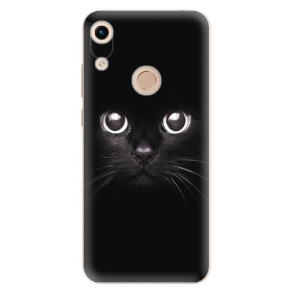 Odolné silikonové pouzdro iSaprio - Black Cat - Huawei Honor 8A