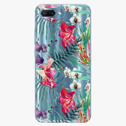 Silikonové pouzdro iSaprio - Flower Pattern 03 - Huawei Honor 10