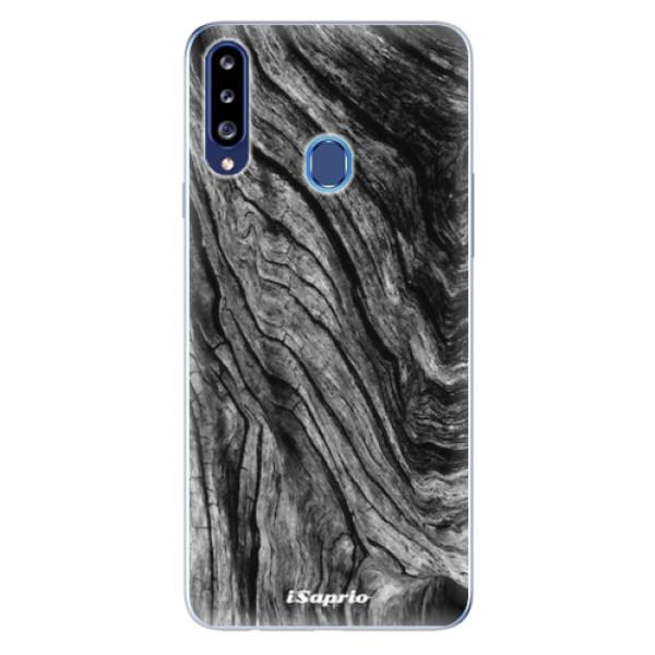 Odolné silikonové pouzdro iSaprio - Burned Wood - Samsung Galaxy A20s