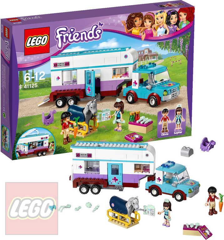 LEGO FRIENDS Veterinářský přívěs s koněm 41125 STAVEBNICE