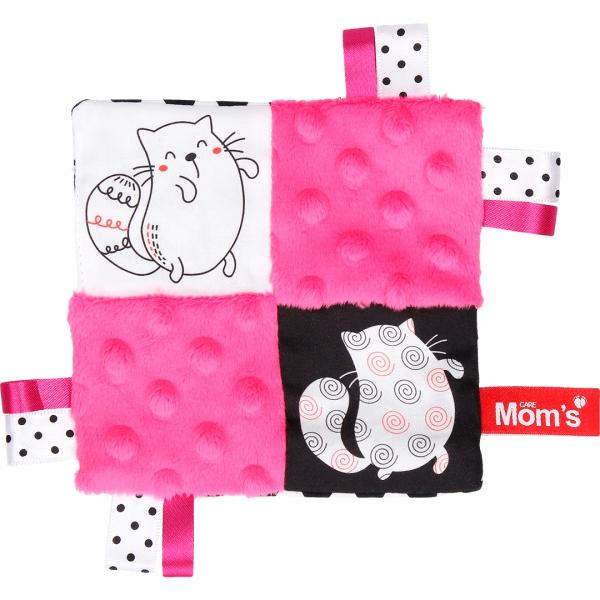 Edukační hračka šustík - kočičky, růžová
