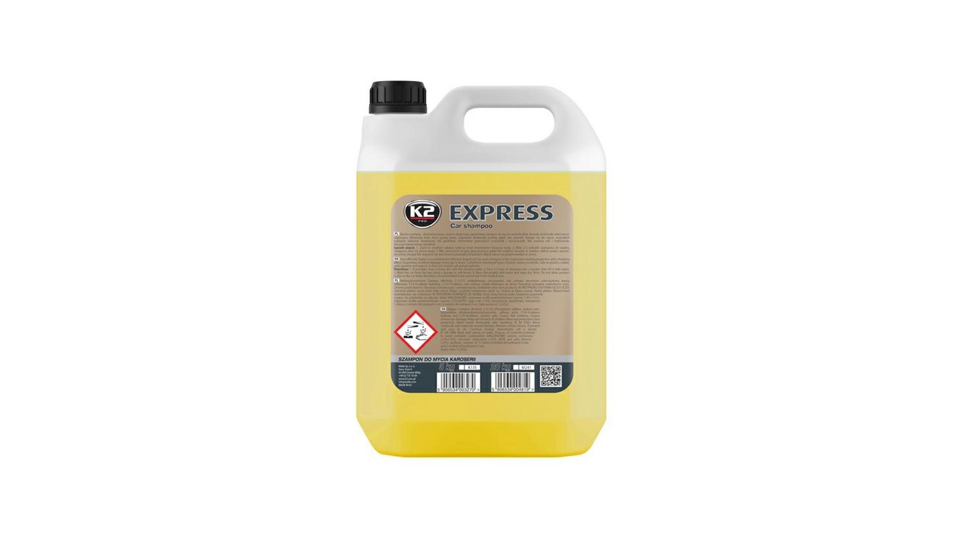 K2 EXPRESS 5l - šampon bez vosku