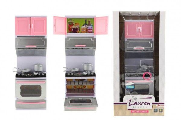 Kuchyňka s doplňky plast se světlem se zvukem v krabici