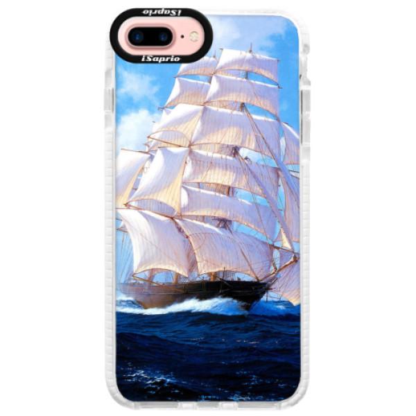 Silikonové pouzdro Bumper iSaprio - Sailing Boat - iPhone 7 Plus