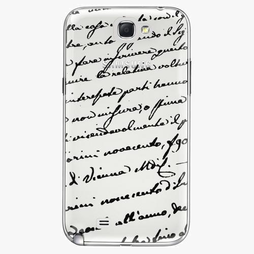 Plastový kryt iSaprio - Handwriting 01 - black - Samsung Galaxy Note 2