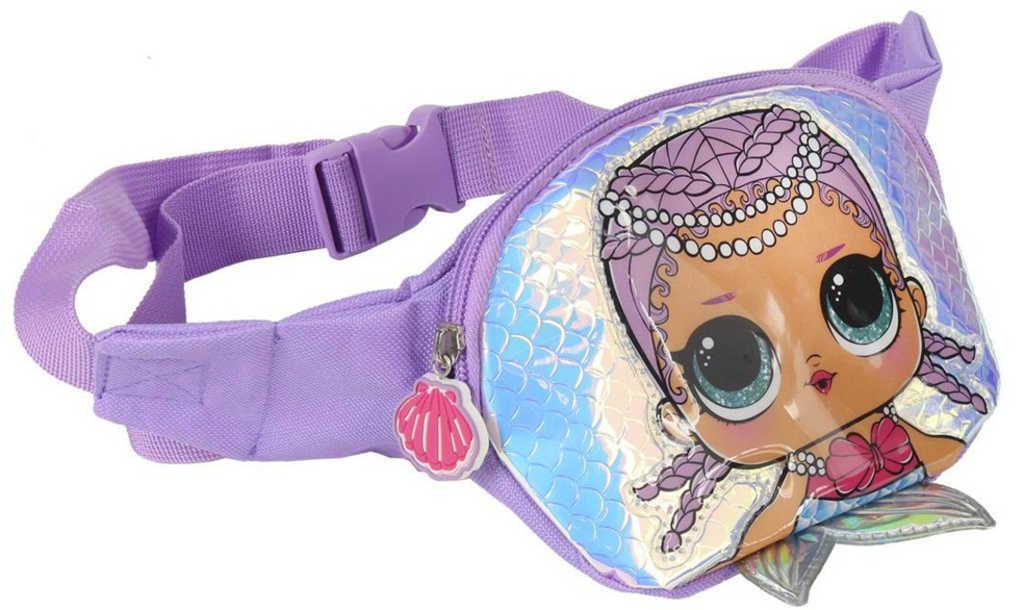 L.O.L. Surprise! Ledvinka 3D holčičí batůžek s ploutvičkou fialová