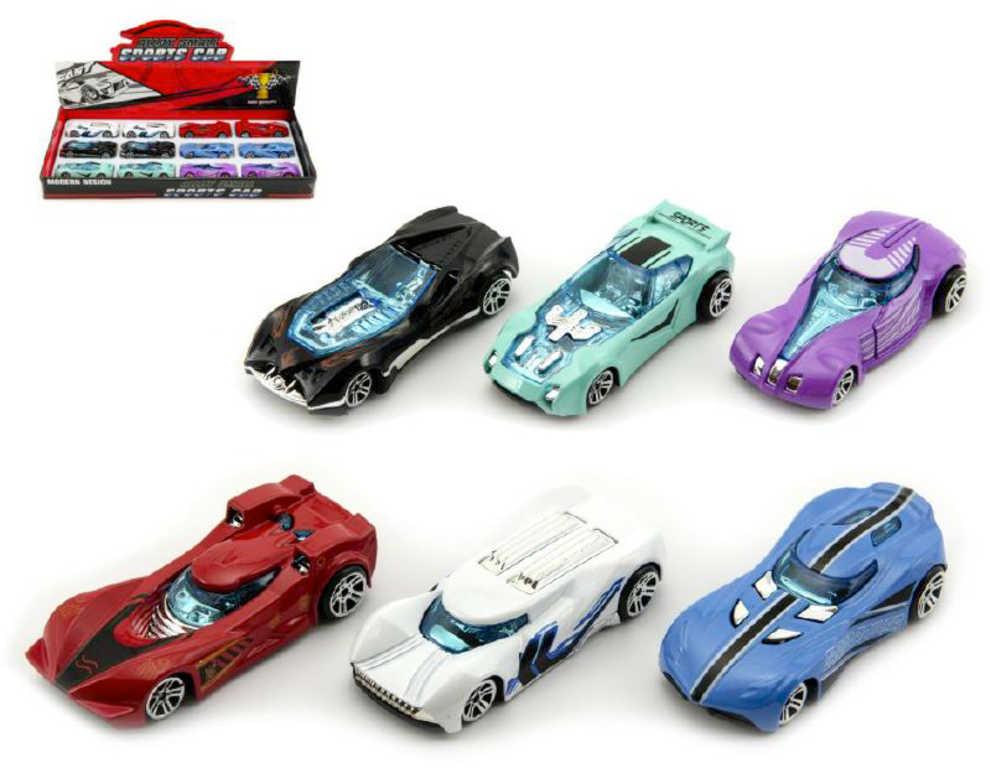 Auto osobní 8cm kovový model volný chod různé druhy