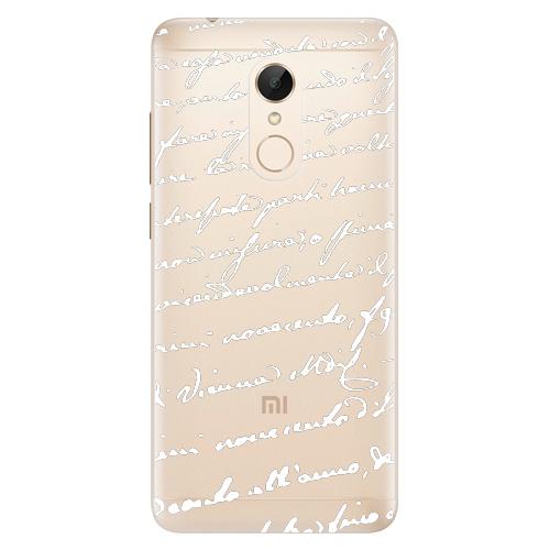 Plastový kryt iSaprio - Handwriting 01 - white - Xiaomi Redmi 5