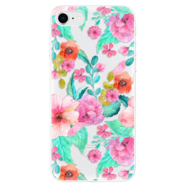 Odolné silikonové pouzdro iSaprio - Flower Pattern 01 - iPhone SE 2020