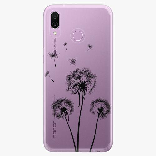Silikonové pouzdro iSaprio - Three Dandelions - black - Huawei Honor Play