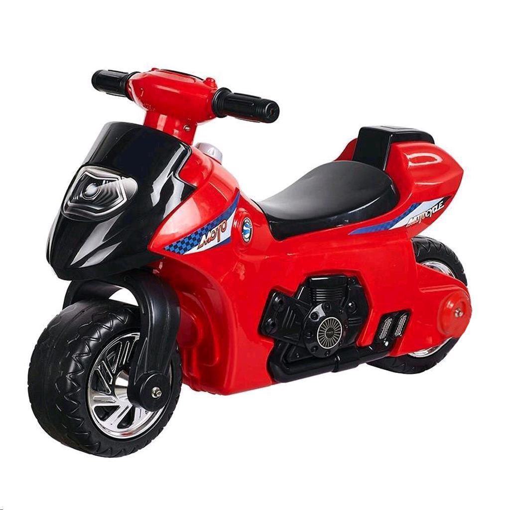 Dětské odrážedlo se zvukem Motorka Bayo red - červená
