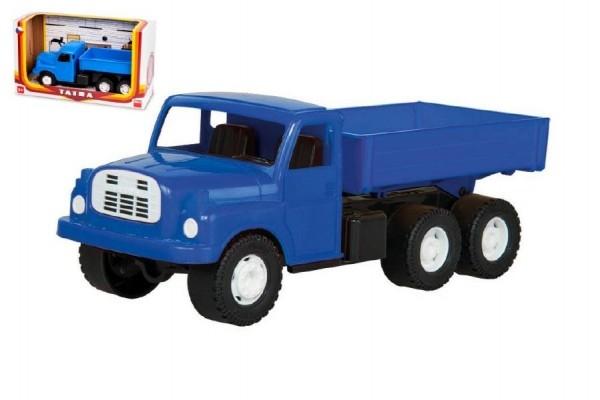 auto-nakladni-tatra-148-valnik-plast-30cm-modra-v-krabici-35x18x13cm