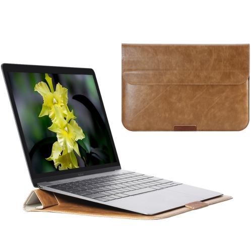 Kožené pouzdro / kryt Rock Stylish pro MacBook Air 11 hnědé