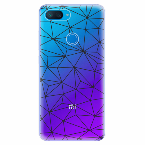 Silikonové pouzdro iSaprio - Abstract Triangles 03 - black - Xiaomi Mi 8 Lite