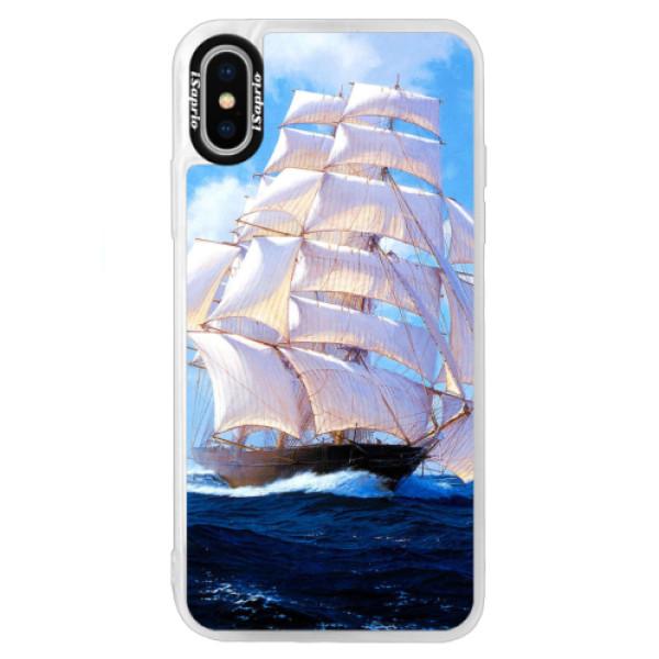 Neonové pouzdro Blue iSaprio - Sailing Boat - iPhone XS