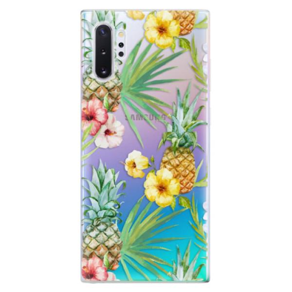 Odolné silikonové pouzdro iSaprio - Pineapple Pattern 02 - Samsung Galaxy Note 10+