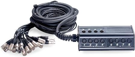 Stagg NSB-05/16X4XR, párový kabel se stageboxem
